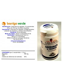 Carbonato de magnesio...