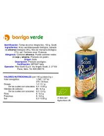 Tortas de arroz integral