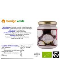 Aceite de coco virgen 400 g.