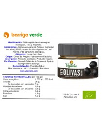 Paté vegetal de olivas negras
