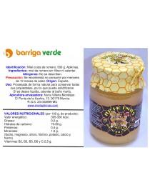 Miel cruda de romero 500 g.