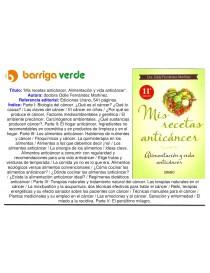 Libro 'Mis recetas anticáncer'