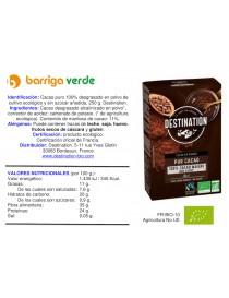Cacao puro en polvo sin azúcar