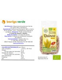 Macarrones de quinoa y lino