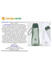 Botella reutilizable tritán...