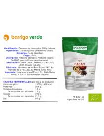 Cacao crudo puro en nibs