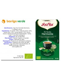 Yogi Tea Té Verde Harmonía
