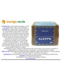 Jabón artesano de Alepo 20%...