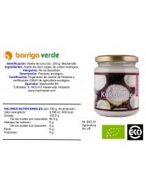 Aceite de coco virgen 200 g.